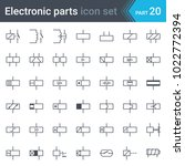 complete vector set of electric ... | Shutterstock .eps vector #1022772394