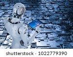 3d rendering humanoid robot... | Shutterstock . vector #1022779390