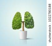 green tree shaped in human...   Shutterstock . vector #1022780188