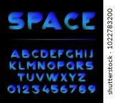 vector shape layered font.... | Shutterstock .eps vector #1022783200