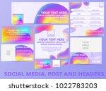 social media posts  header ... | Shutterstock .eps vector #1022783203