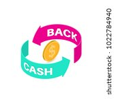 sign cash back. banner. a bonus ... | Shutterstock .eps vector #1022784940