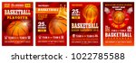 set of basketball posters with... | Shutterstock .eps vector #1022785588