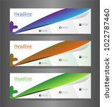 webset three colorful abstract...   Shutterstock .eps vector #1022787460