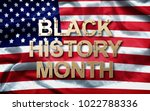 black history month  african... | Shutterstock . vector #1022788336