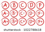 grade results. hand drawn... | Shutterstock .eps vector #1022788618