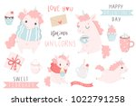 cute hand drawn illustrations... | Shutterstock .eps vector #1022791258