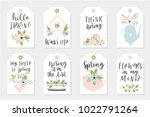 set of spring tags and labels...   Shutterstock .eps vector #1022791264
