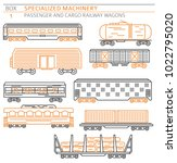special machinery collection.... | Shutterstock .eps vector #1022795020