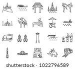 bangkok thailand icons line...   Shutterstock .eps vector #1022796589