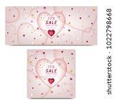 set of commercial banner heart... | Shutterstock .eps vector #1022798668