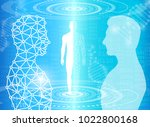 abstract background technology... | Shutterstock .eps vector #1022800168