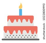 flat icon of a giant birthday... | Shutterstock .eps vector #1022800993
