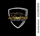 automotive logo template with... | Shutterstock .eps vector #1022802850