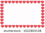 red hearts on white background... | Shutterstock .eps vector #1022803138