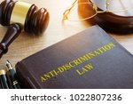 anti discrimination law on a... | Shutterstock . vector #1022807236