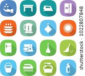 flat vector icon set   chemical ... | Shutterstock .eps vector #1022807848