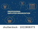 conceptual business... | Shutterstock . vector #1022808373