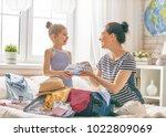 go on an adventure  happy... | Shutterstock . vector #1022809069