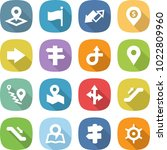 flat vector icon set   pointer... | Shutterstock .eps vector #1022809960