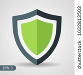 abstract security vector icon... | Shutterstock .eps vector #1022813503