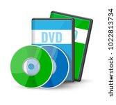 dvd digital video discs cases... | Shutterstock .eps vector #1022813734