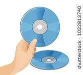 dvd digital video disc or... | Shutterstock .eps vector #1022813740