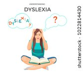 understanding dyslexia known as ... | Shutterstock .eps vector #1022814430