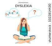 understanding dyslexia known as ... | Shutterstock .eps vector #1022814430