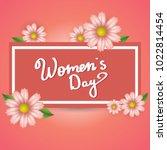 vector background. card. women... | Shutterstock .eps vector #1022814454