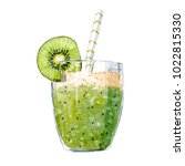 bright summer watercolor... | Shutterstock . vector #1022815330