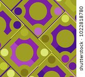 colorful mosaic background with ... | Shutterstock .eps vector #1022818780
