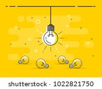 bright idea and insight concept ... | Shutterstock .eps vector #1022821750