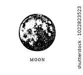 moon image on white background. ... | Shutterstock .eps vector #1022823523