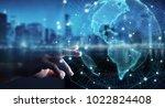 Businesswoman Blurred Background Using Usa - Fine Art prints
