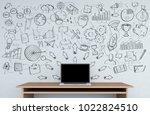manuscript project presentation ... | Shutterstock . vector #1022824510