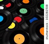 vinyl records background | Shutterstock . vector #102282508