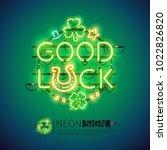 st patricks day good luck... | Shutterstock .eps vector #1022826820