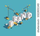 brand building construction 3d... | Shutterstock .eps vector #1022831140