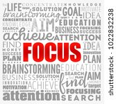 focus word cloud collage ... | Shutterstock .eps vector #1022832238