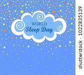 world sleep day. international... | Shutterstock .eps vector #1022835139