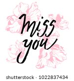 i miss you. i heart you.... | Shutterstock .eps vector #1022837434