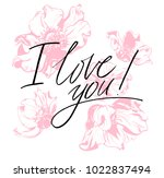 i love you. i heart you.... | Shutterstock .eps vector #1022837494