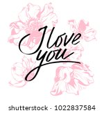 i love you. i heart you.... | Shutterstock .eps vector #1022837584