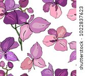 seamless floral pattern with... | Shutterstock .eps vector #1022837623
