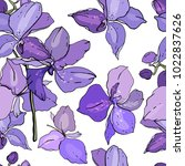 seamless floral pattern with... | Shutterstock .eps vector #1022837626
