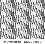 abstract striped cubes... | Shutterstock .eps vector #1022844880