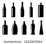 collection of bottles of...   Shutterstock .eps vector #1022845063