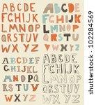 4 Sets Of Latin Alphabet