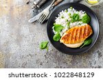chicken breast or fillet ... | Shutterstock . vector #1022848129